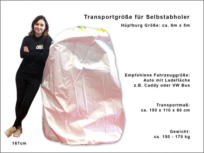 Hüpfburg Zirkuswelt Transportmaße